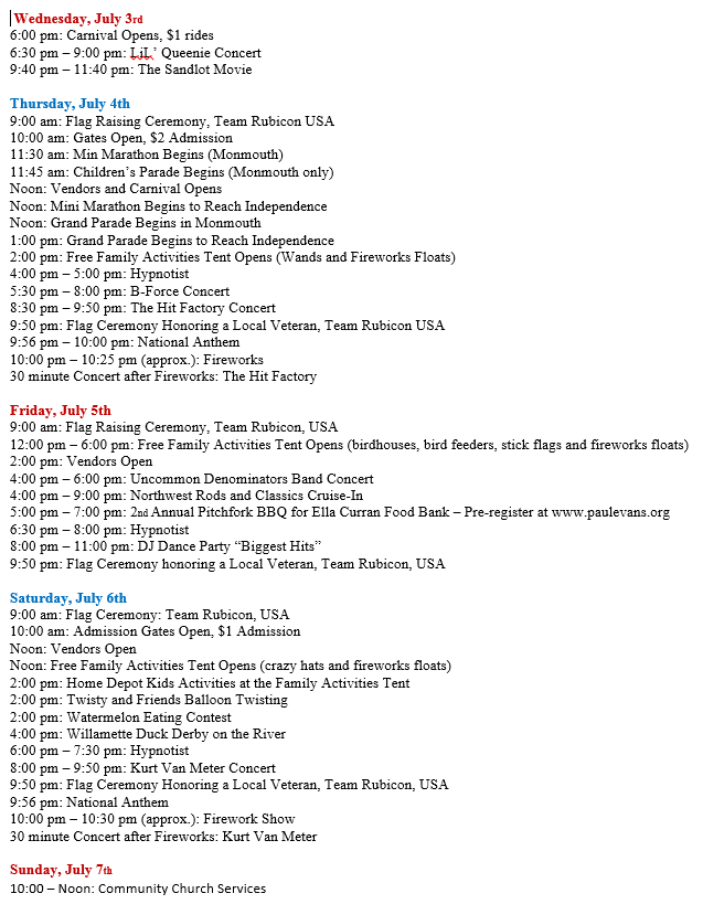 Event Schedule 6_27_19
